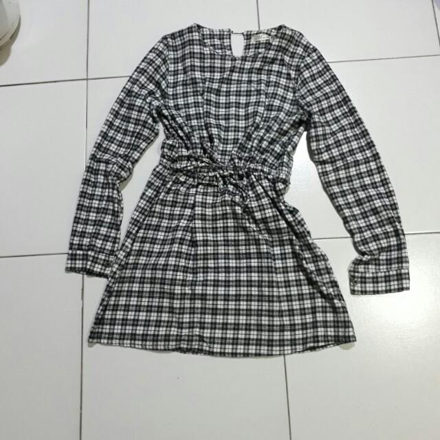 Aimee korean checkered dress
