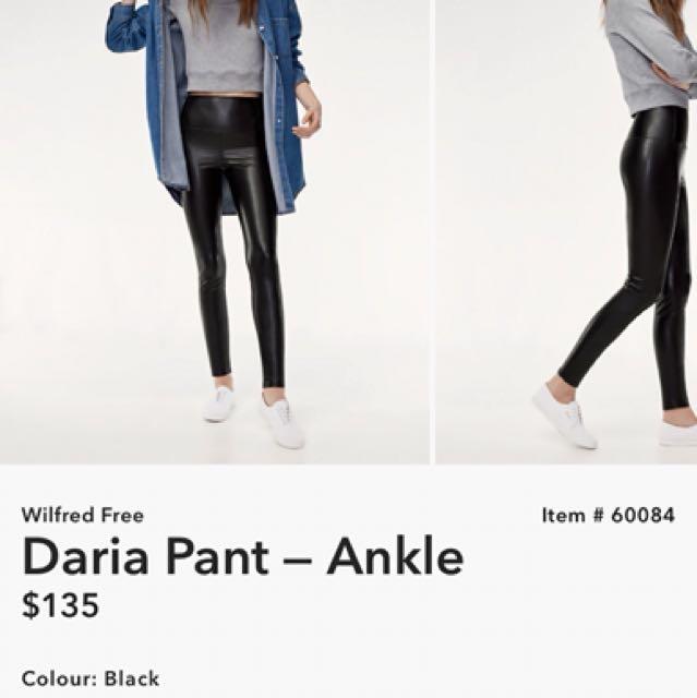Aritzia Faux Leather Leggings