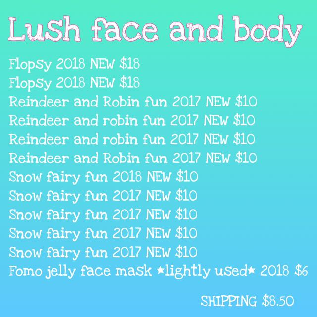 ASSORTED LUSH FACE AND BODY