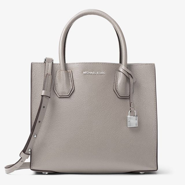 237c090a1246 Authentic MK Michael Kors Mercer Medium Leather Tote Sling Crossbody ...