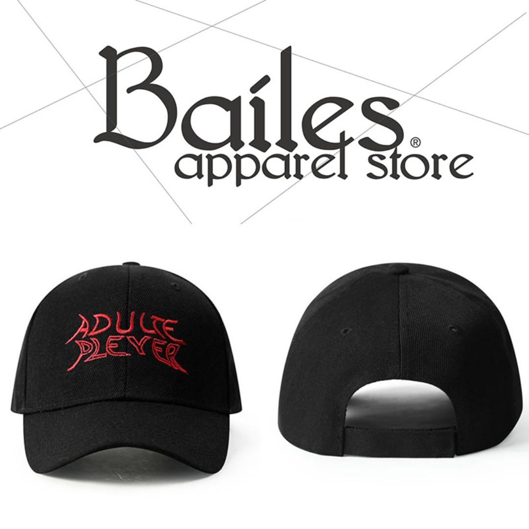 貝里斯Bailes【AW019】配件款 / 男女款 歐美街頭系刺繡字母設計魔鬼氈鴨舌帽 棒球帽 休閒帽