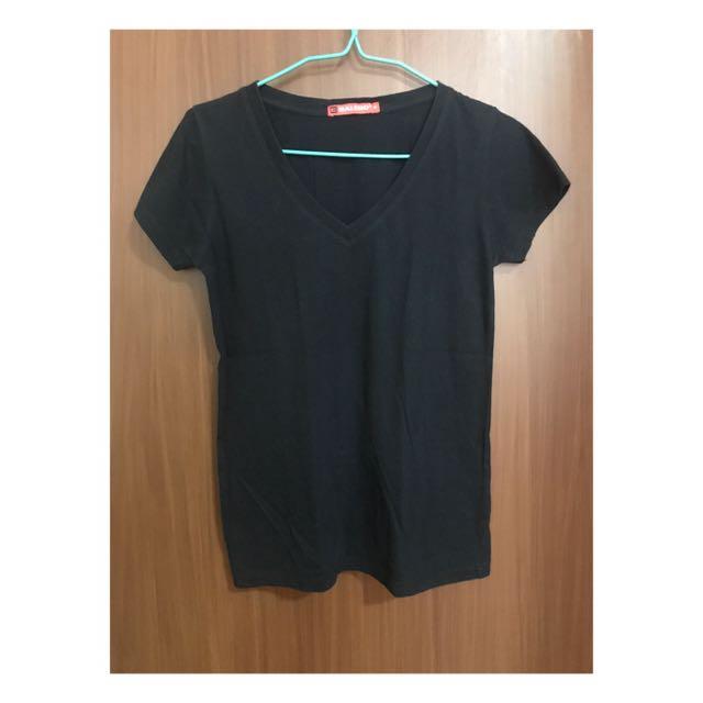 BALENO Black V-Neck Shirt