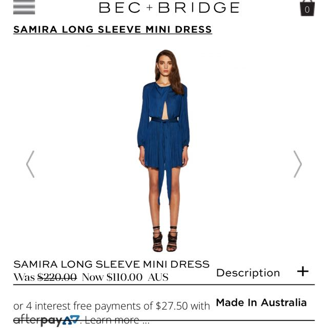 Bec and Bridge Teal 'samira' dress