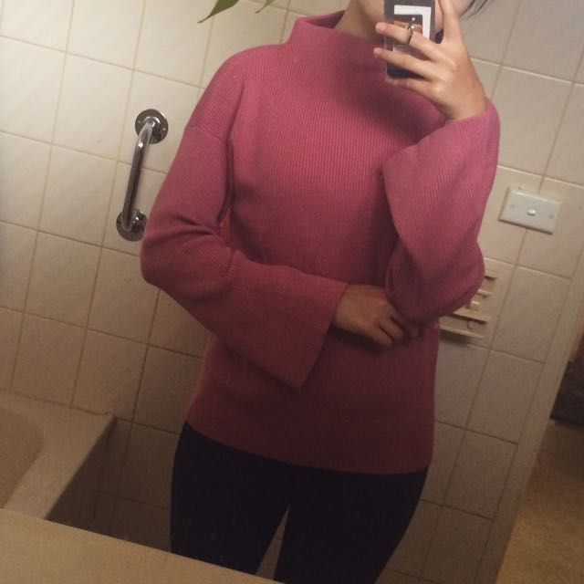 Berry/mauve pink sweater