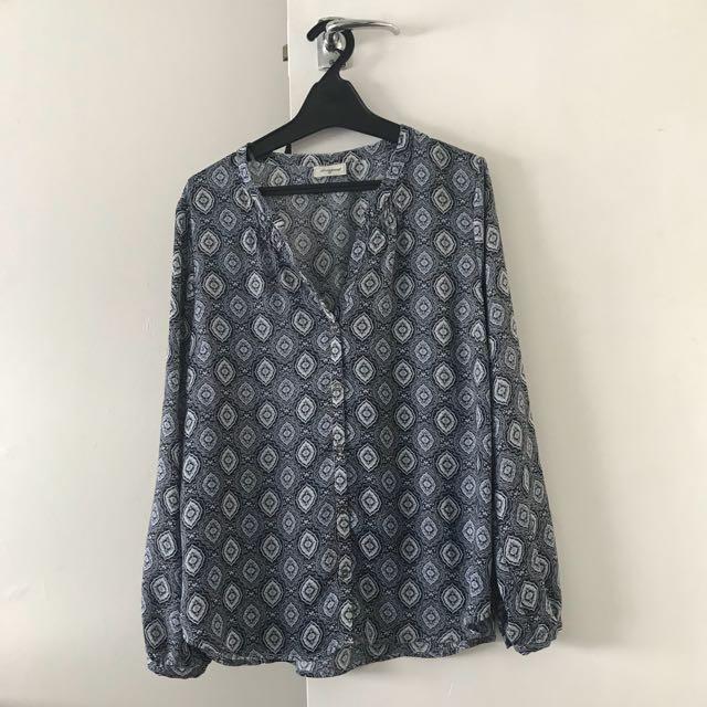 Blue boho shirt