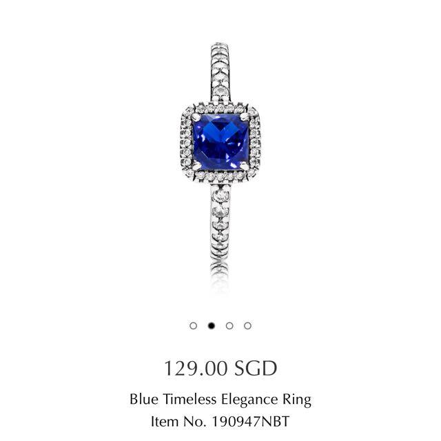 Blue Timeless Elegance Ring