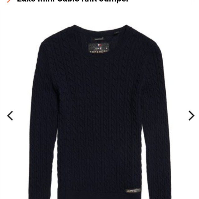 BNWT superdry luxe mini cable knitwear
