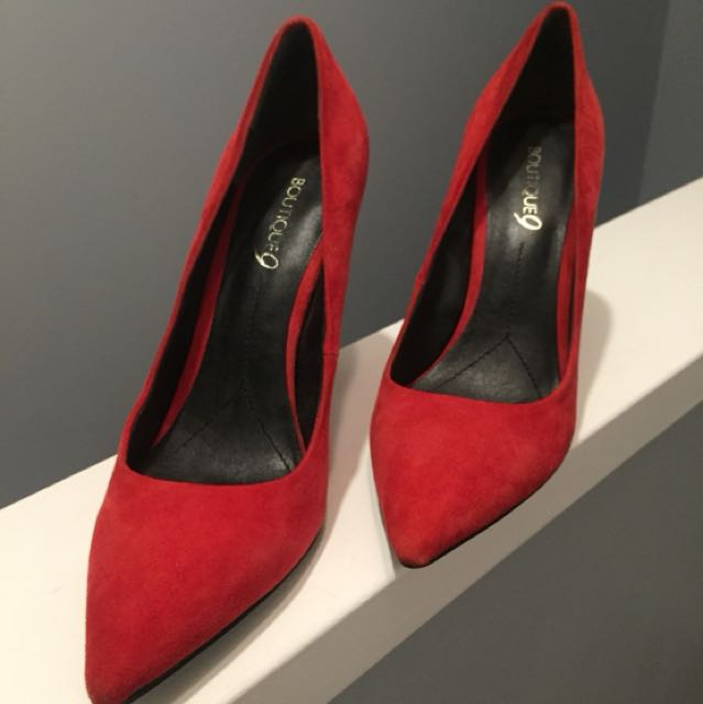 Brand new Boutique 9 (Saks off 5th) red suede pumps size 7.5/8