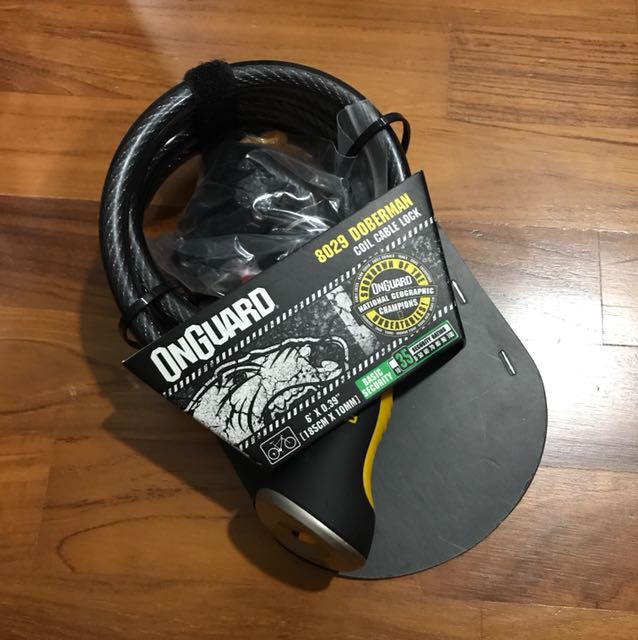 ONGUARD DOBERMAN 8029 BIKE CABLE LOCK SECURITY FOR CYCLE