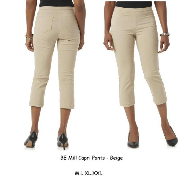 Capri pants celana big size plus ankle crop chino kantor