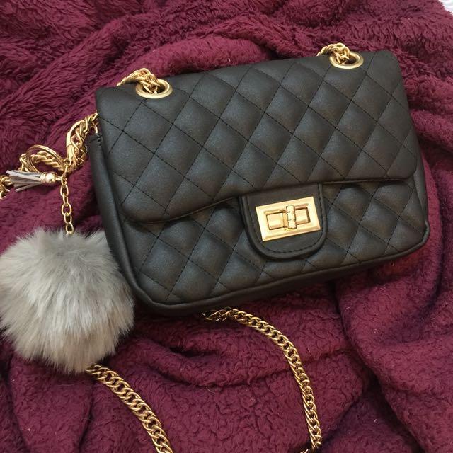 Chanel inspired clutch sling bag