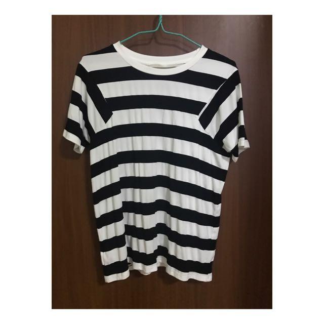CLN Black and White Stripes Shirt