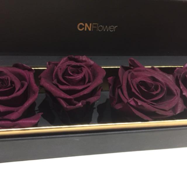 CNFlower永生花 深紫紅玫瑰