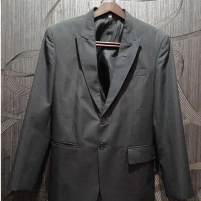 #CNY2018 men blazers formal jacket grey (abu abu)