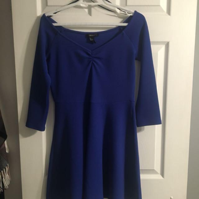 Colbert blue skater dress