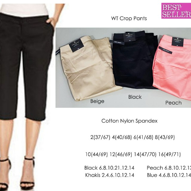 Crop pants big size plus capri celana chino