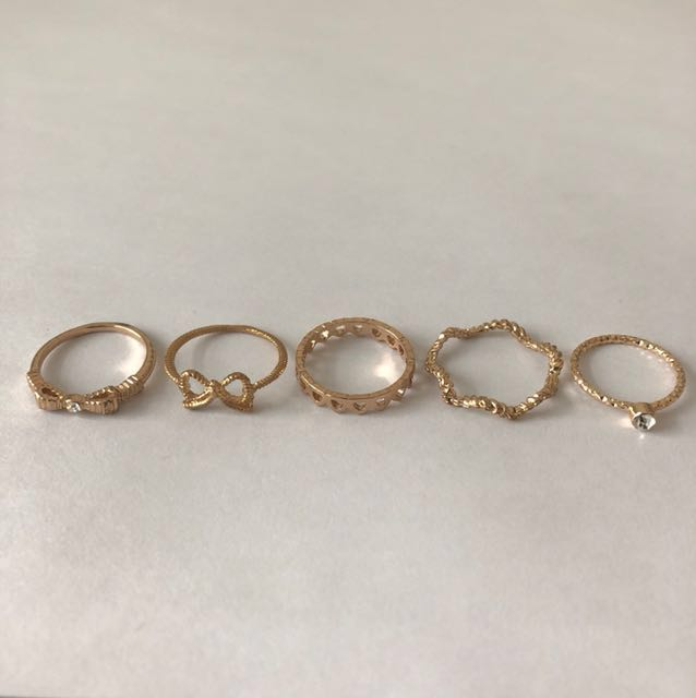 Cute Bow Ring Set (pick up only)
