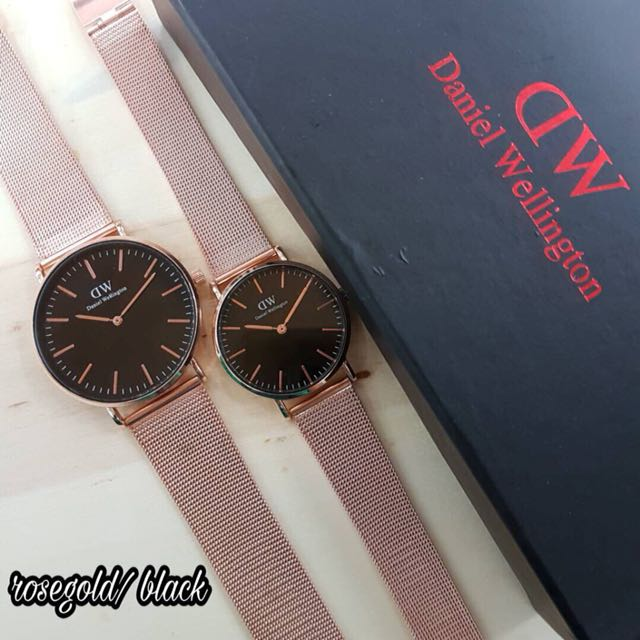Daniel Wellington DW couple watch Barangan Mewah Jam Tangan di Carousell