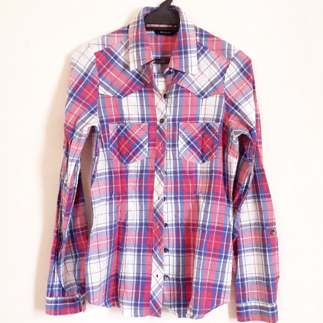 Dorothy Perkins Plaid Long Slv Shirt