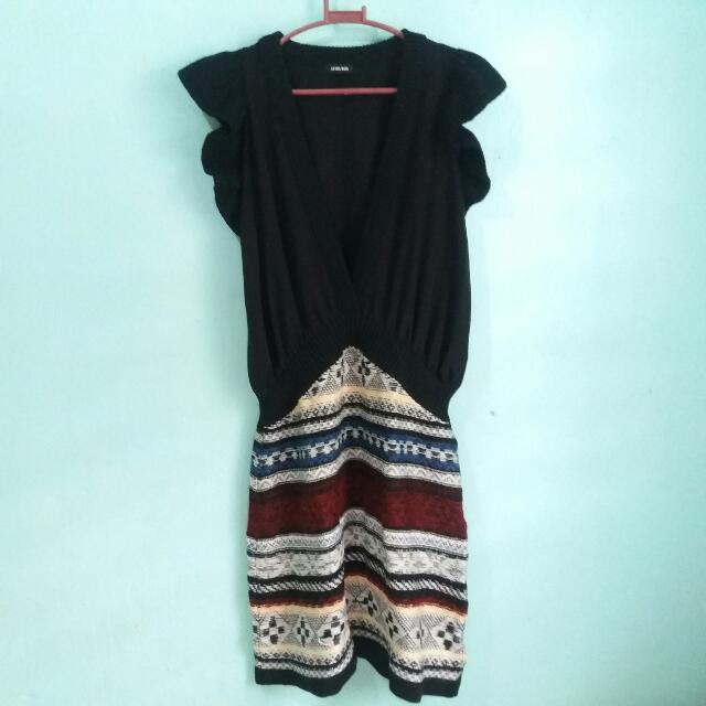 Dress with Aztec Pattern Design