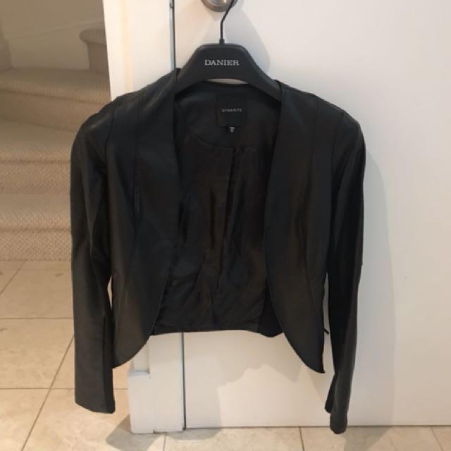 Dynamite Black Faux Leather Jacket