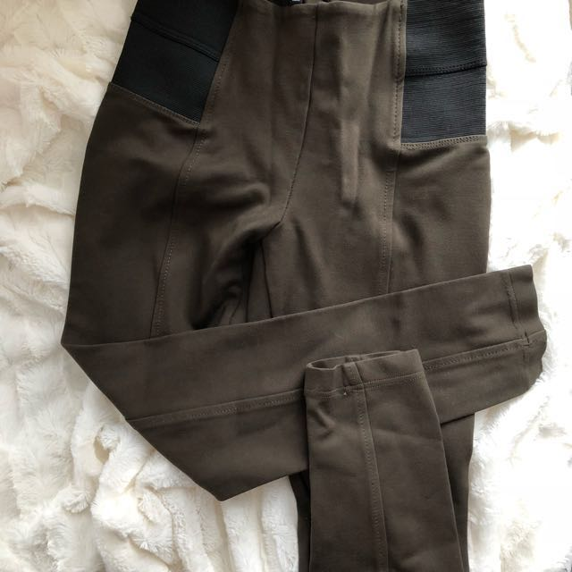 Dynamite Olive HW pants - small