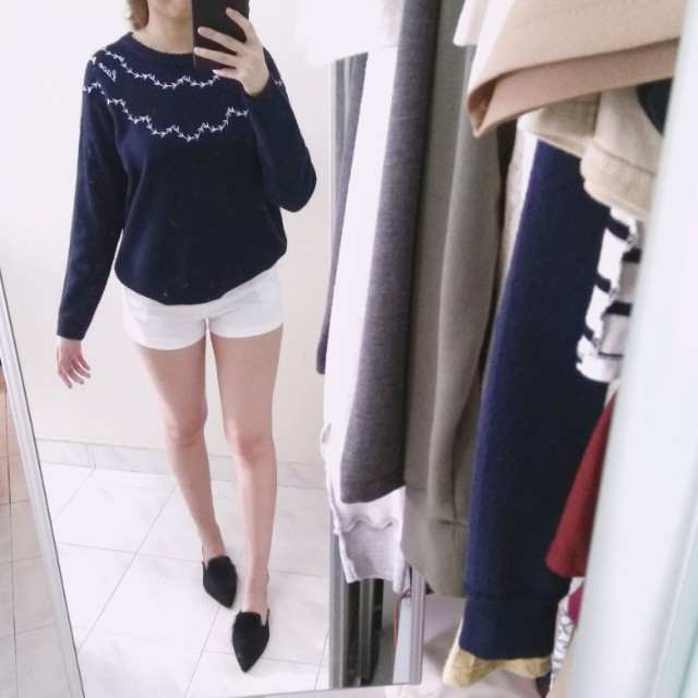 Embroidery Minimalist Pullover #Fesyen50