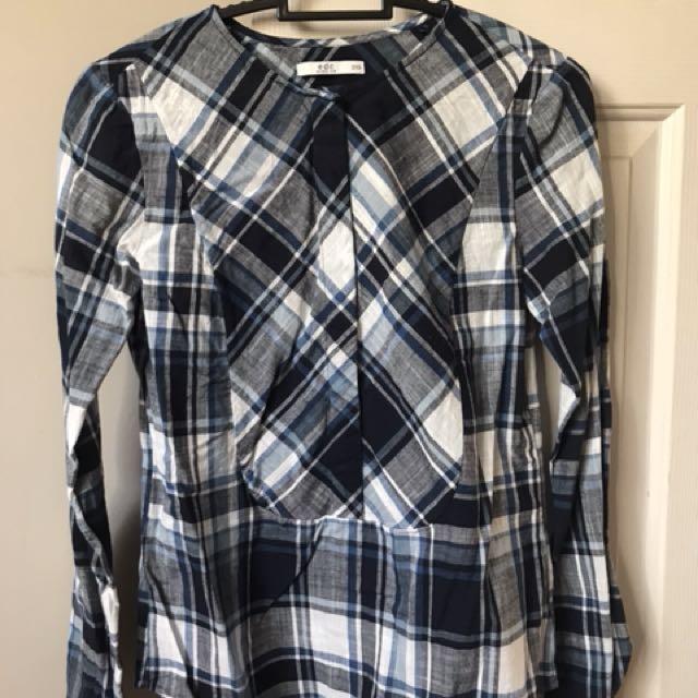 e2917645115 Esprit Check Long sleeve Shirt 2XS