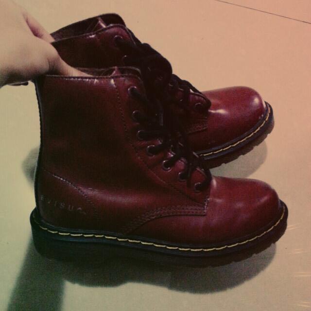 福神EˊVISU 棗紅色靴   量少!!!