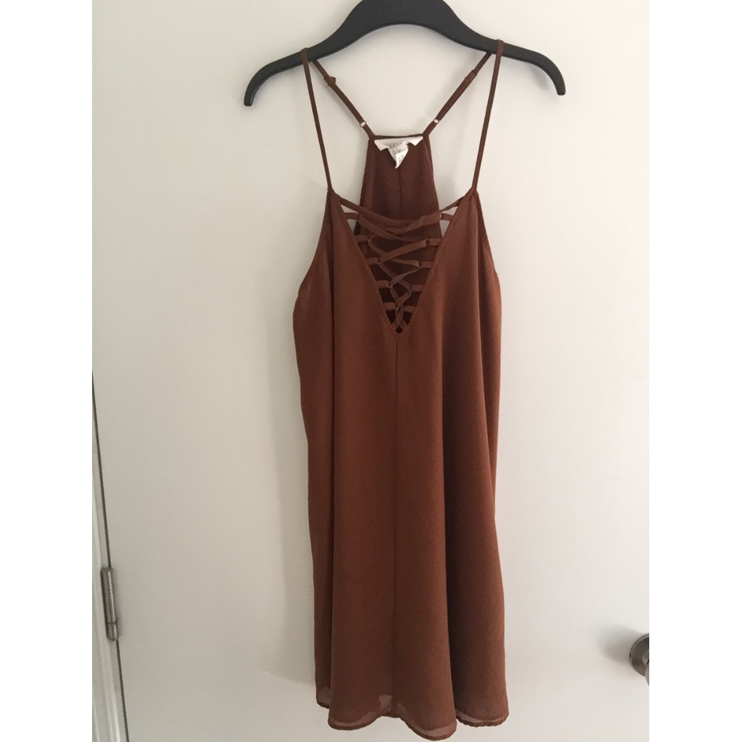 F21 Lace Up Dress (chiffon)