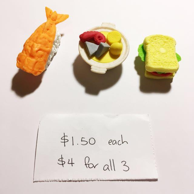 Food Eraser Set