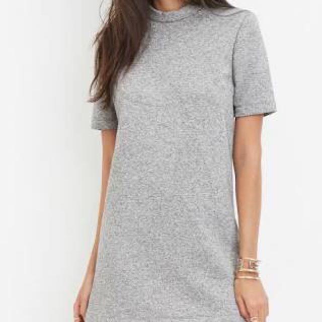 Forever 21 Mock Grey Dress F21