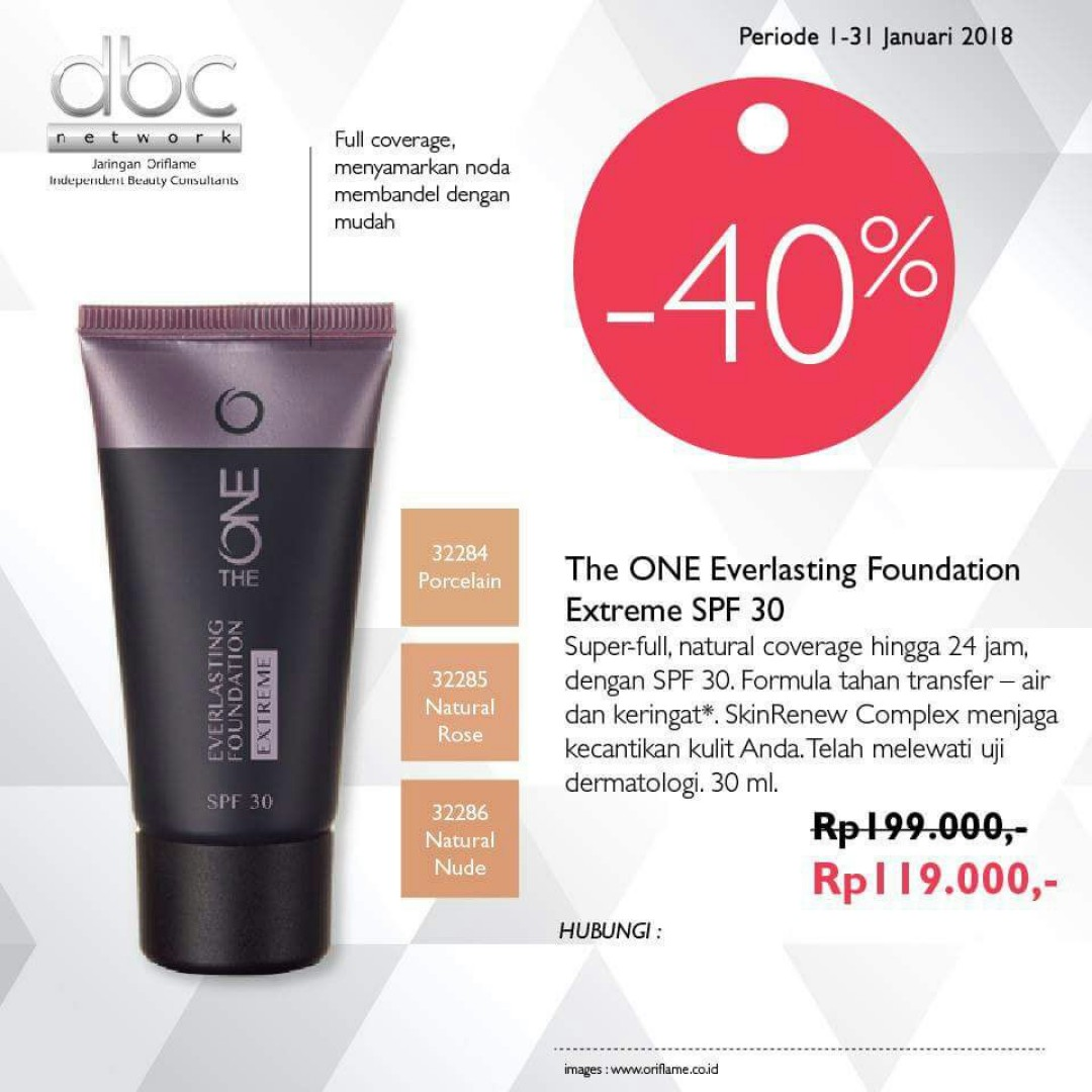 Foundation Tahan Lama THE ONE Everlasting SPF 30