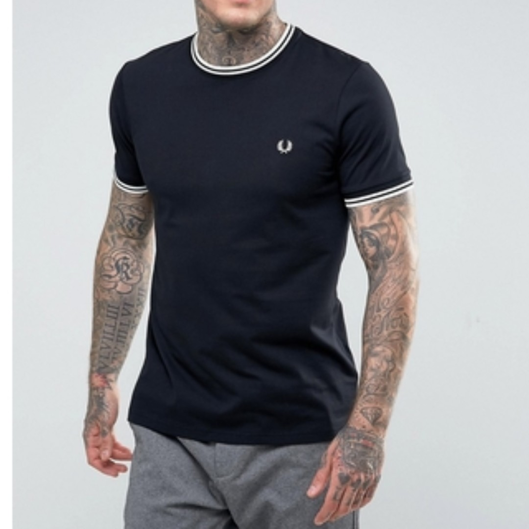 63720fbf7 Fred Perry Slim Fit Twin Tipped Ringer T-Shirt, Men's Fashion ...