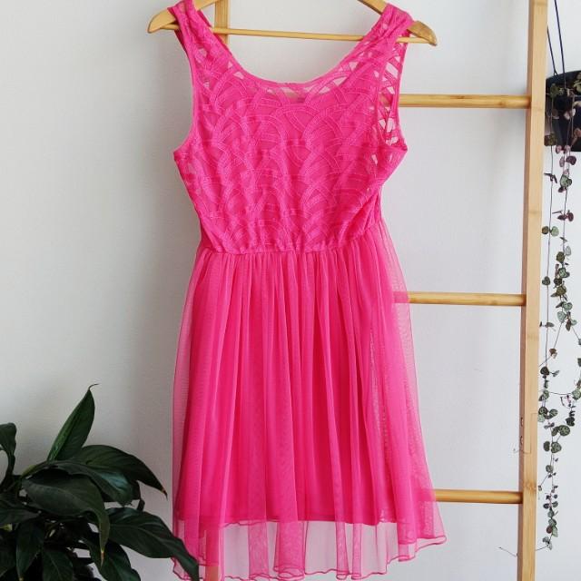 Fun Pink dress from Miss Shop