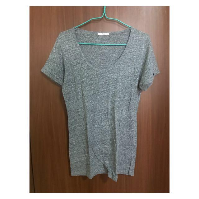F&X Gray V-Neck Shirt