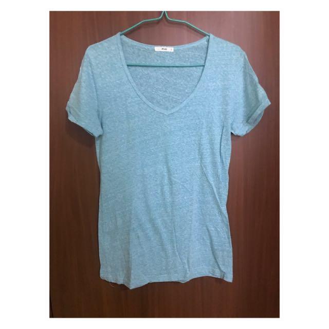 F&X Mint Green V-Neck Shirt