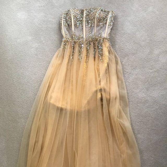 Gold floor length ballgown