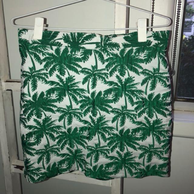 Green & White Topshop Skirt