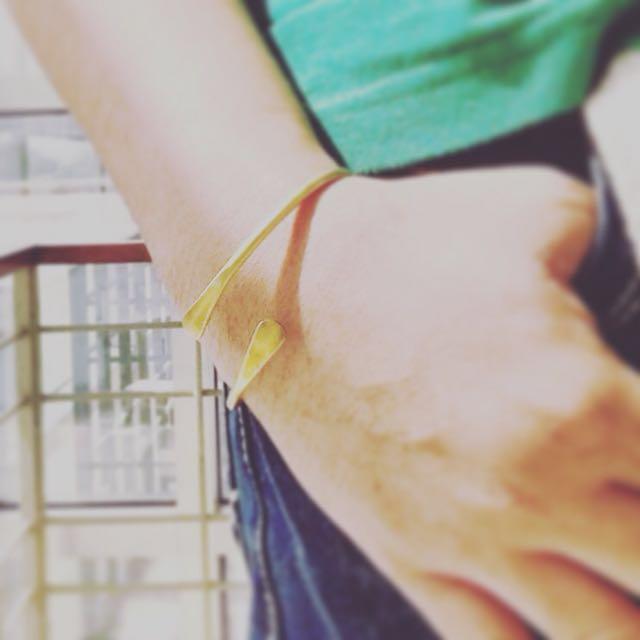 Hammered Raw Brass Adjustable Bangle Friendship Bracelet