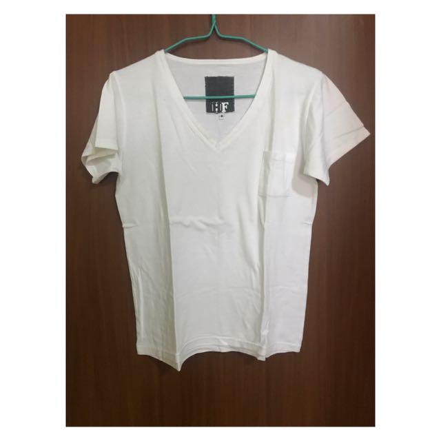 HF White V-Neck Shirt