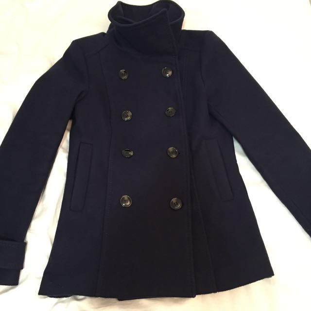 H&M BLUE Double Breasted Coat