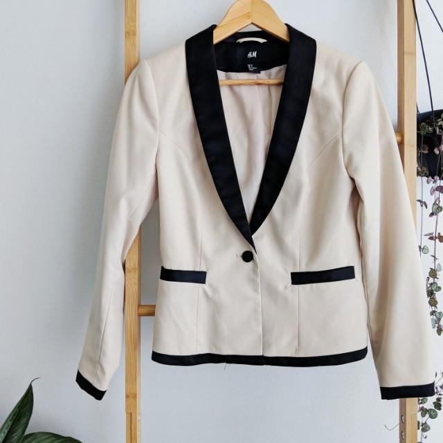 H&M Cream and Black blazer