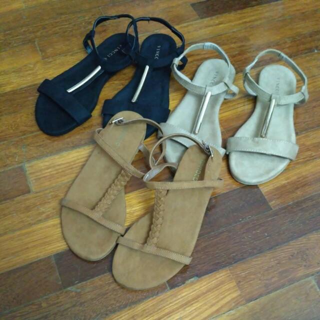 1a3446bca6c H M Divided Flat Sandal Shoes and Vincii  Feb50