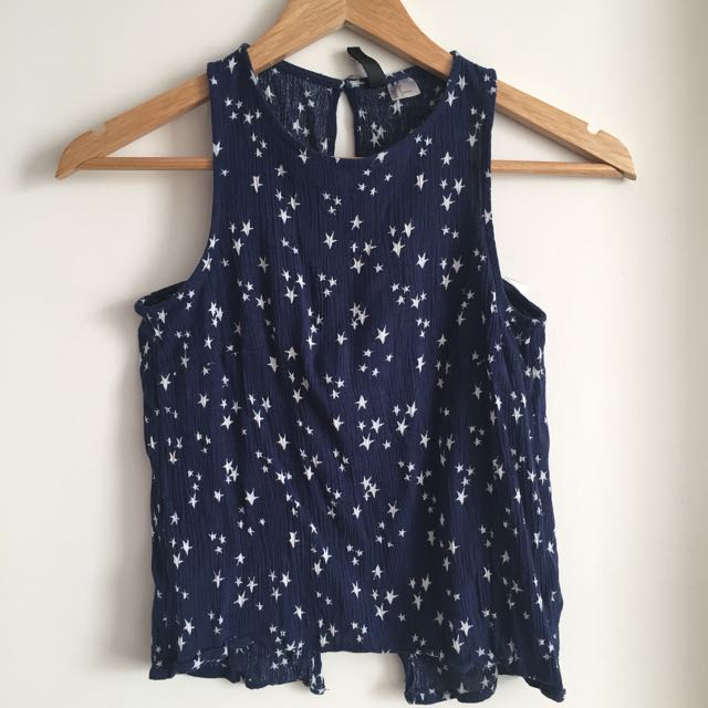 H&M sleeveless navy blue top /Blouse