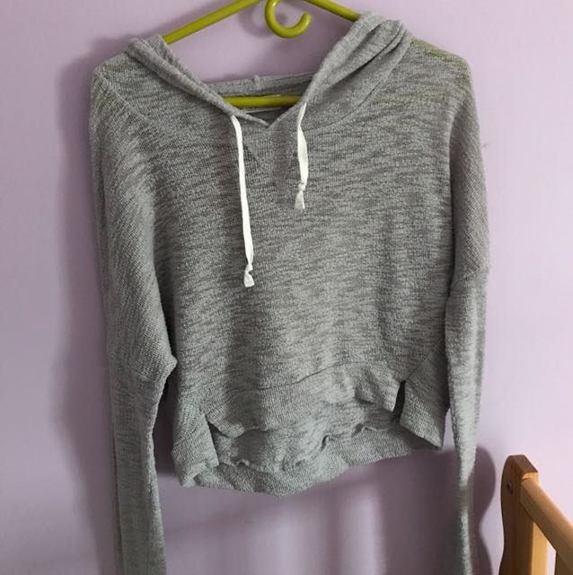 Hollister knit top with hood