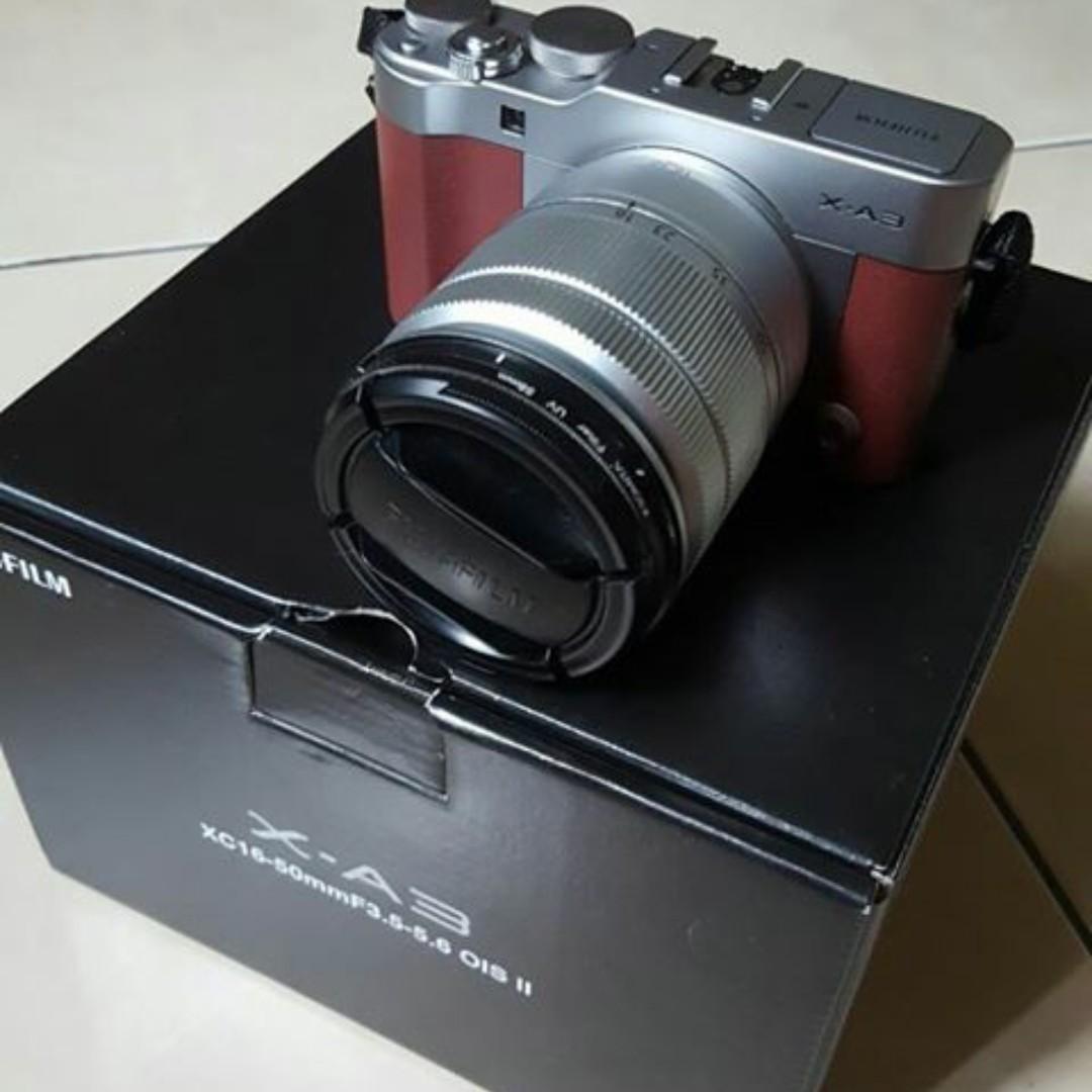 Harga Jual Fujifilm Xa3 Warna Brown Fullset Second 7000000 X A3 Kit 16 50mm F35 56 Ois Ii Kamera F 35 Fotografi Di Carousell