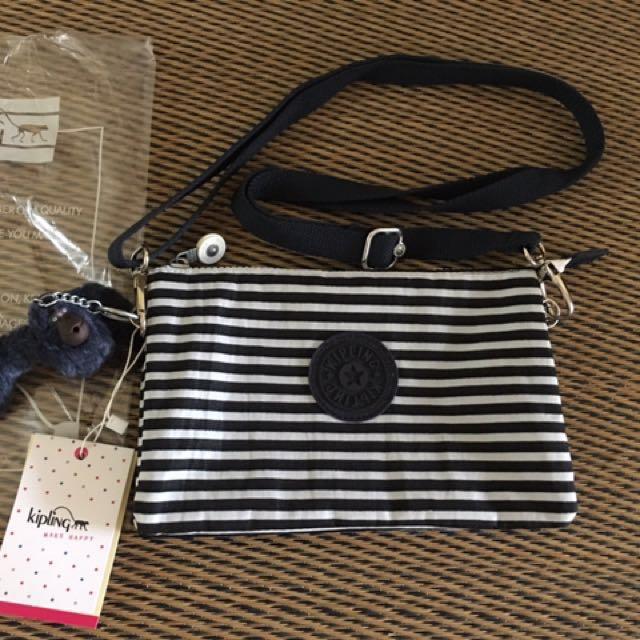 Kipling Navyblue stripe sling bag