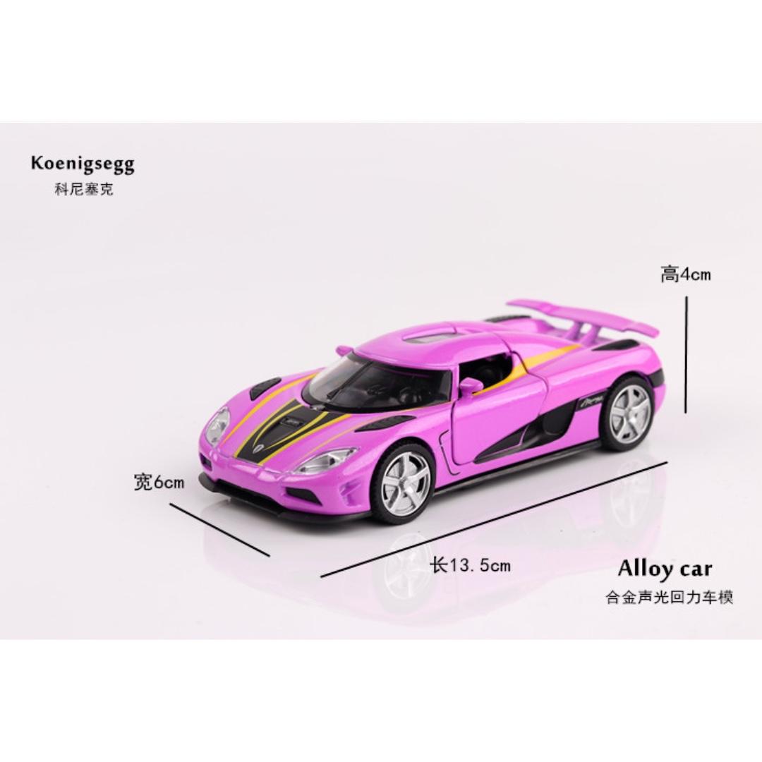 Koenigsegg 科尼塞克 聲光 迴力 藍色 粉色 黑色 紅色 1:32 預購 阿米格Amigo