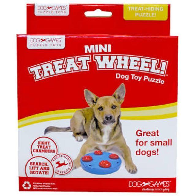 KYJEN DOG GAMES MINI TREAT WHEEL DOG TOY PUZZLE